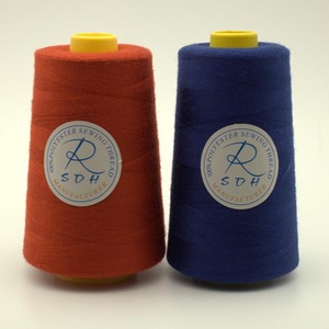 100% polyester 60s/3 100% polyester sewing threads with silicone oil