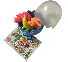 Dinosaur wind up Egg Capsule and Small figures Toys