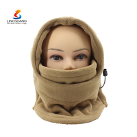 Fashion New Unisex 6-in-1 Winter Hat Neck Warmer Hoods Ski Motor Hat Winter Thermal Balaclava Scarf Fleece Face Mask