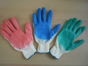 Brand MHR cheap cotton Liner 7g knitting Latex Coated safety glove