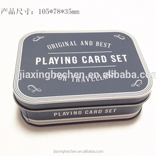 Credit card storage box playing games card gift tin box rectangular