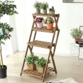 High Quality 4 Tier Plant Rack Bamboo Folding Plant Rack