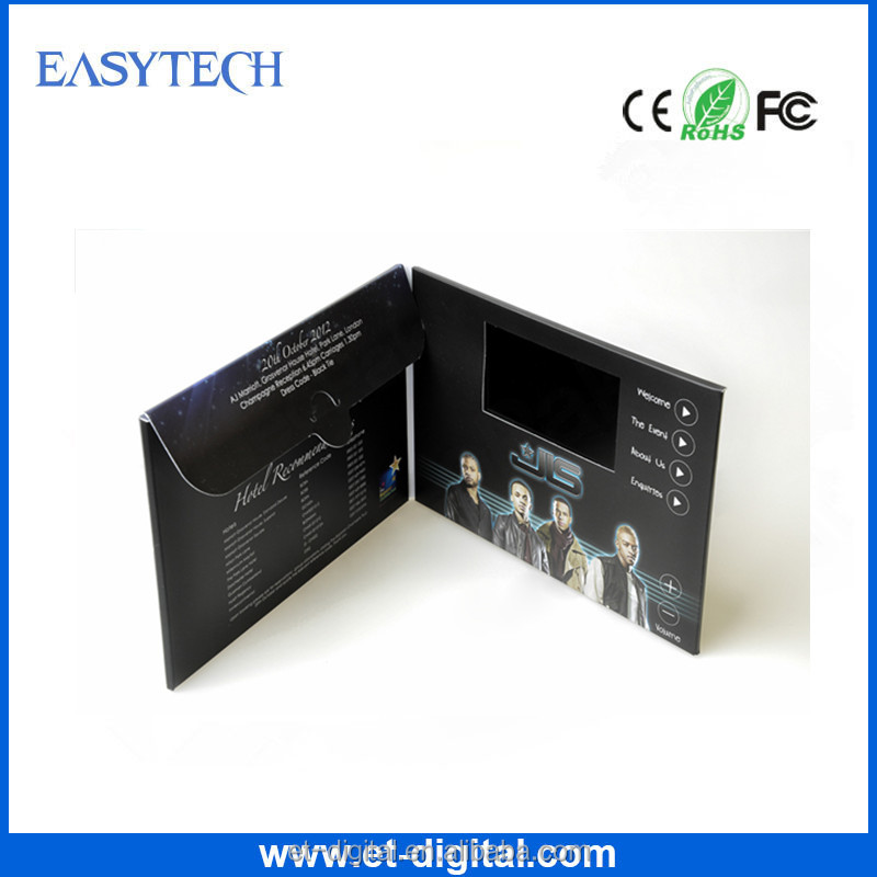 High Quality Customized Invitation Video Wedding Card With Envelope For Advertising