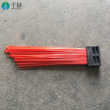 Flat steel wire gutter broom for road cleaning