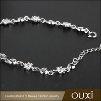 OUXI 2016 high quality korean design 925 silver AAA zircon cheap price jewelry fashion bracelet for women Y50062