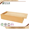 Package box handmade cheap unfinished sliding lid pine wood gift box