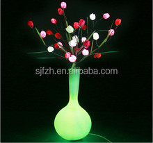 2015 high quality decorative solar led flower pot light, LED flower pot for sale