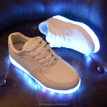 led shoes usb/Newest Fashionable Wholesale Newest Brand name sport shoes 2014 hot selling Led light up sport men shoes