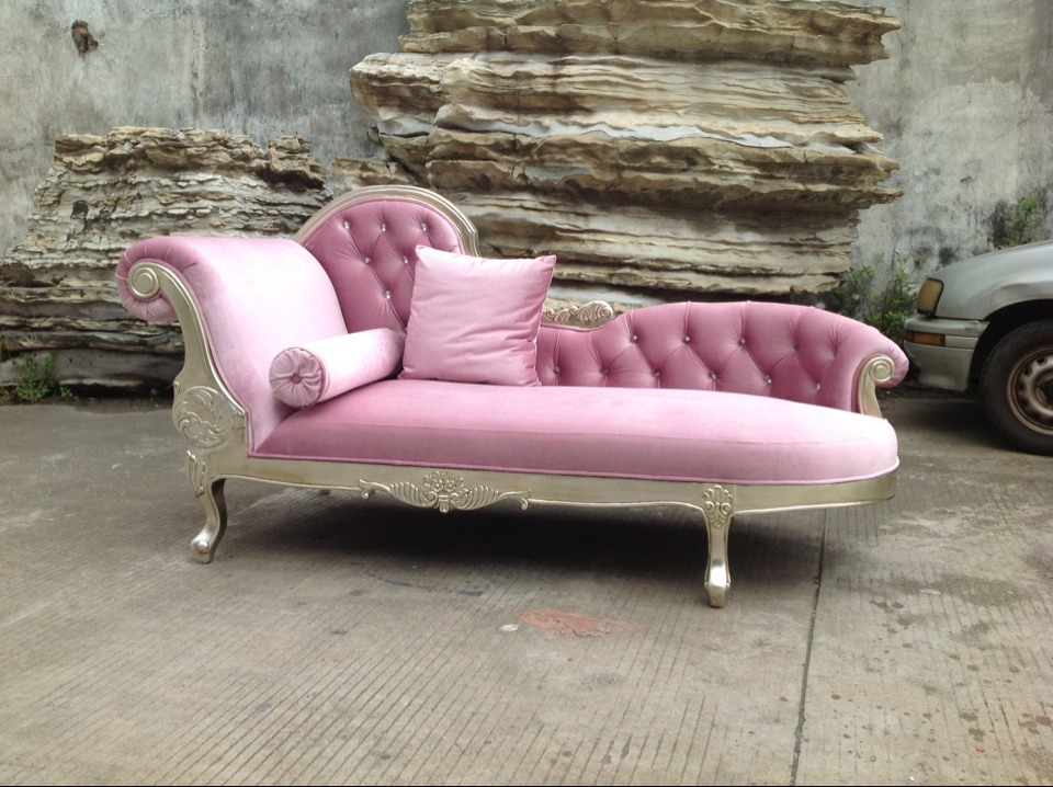 chseterfield pink leather wooden lounge living room sofa