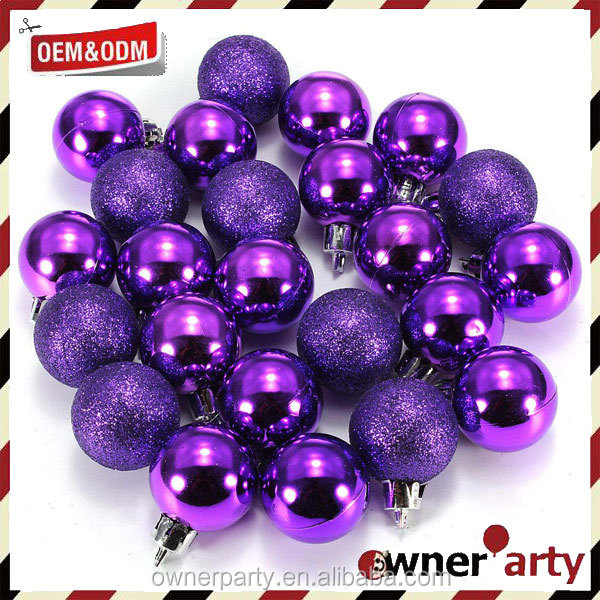 2017 Hot Sale Factory Price Custom Purple Christmas Ornaments