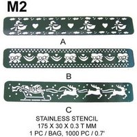 M2 STAINLESS STEEL STENCIL