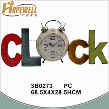 Chinese antique iron multi color decoration wall clock