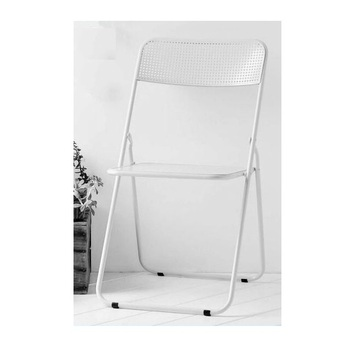 Outdoor Garden White Metal Folding Chair