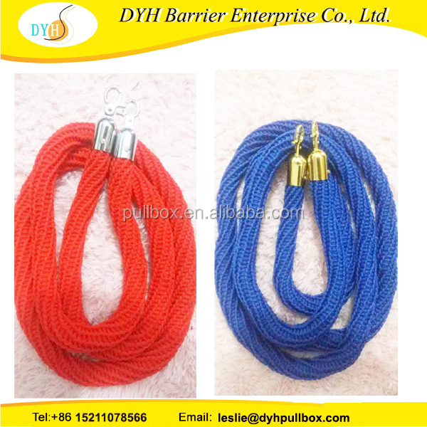 newest unique velvet ropes for crowd control barrier, red velvet/twisted vip rope stanchion