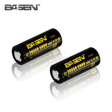 High drain battery NEW BASEN imr 26650 5000mAh battery 50A BASEN 5000mAh/ 4500mAh 26650 26650 li-ion batteries