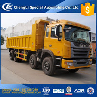 jac 12 wheel 25 cbm 40 ton front tip hyva cylinder dump truck for hot sale