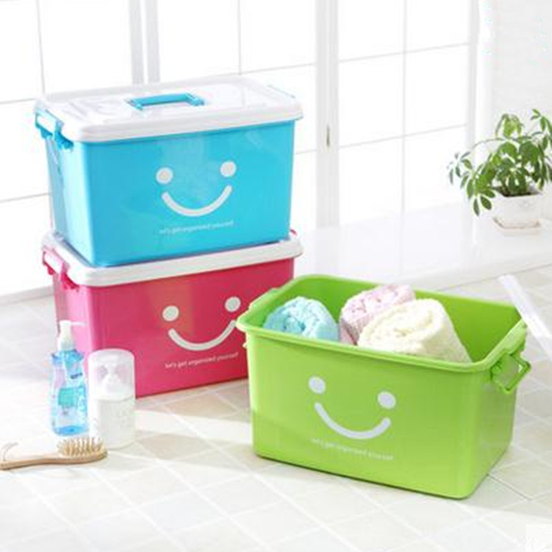 Useful plastic storage box for clothes 80L