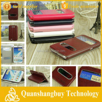 Hot View Window Flip Leather Case for Samsung Galaxy Note2 Note 2 II N7100