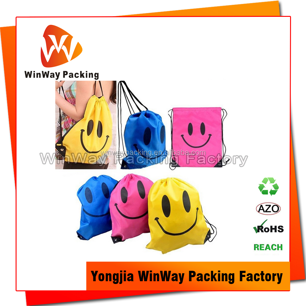 Cute Logo Personalized Drawstring Bags for Kids