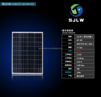 Solar energy photovoltaic power 90W poly Solar panel for home lighting system