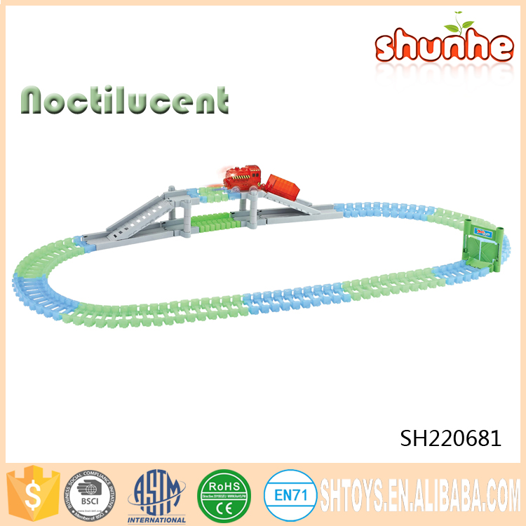 Electric Track Plastic Racing Noctilucent Orbit Train Toy