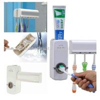Touch me Automatic Toothpaste Dispenser & 5 Wall Mount Toothbrush Holder