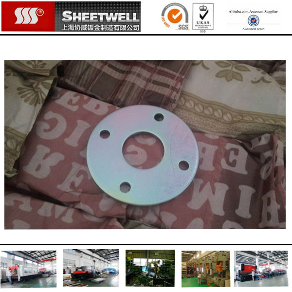High Quality Custom zinced coating steel sheet metal Stamping round parts