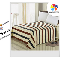 on sale cheap100% cotton stripe bed sheet set design for hotel