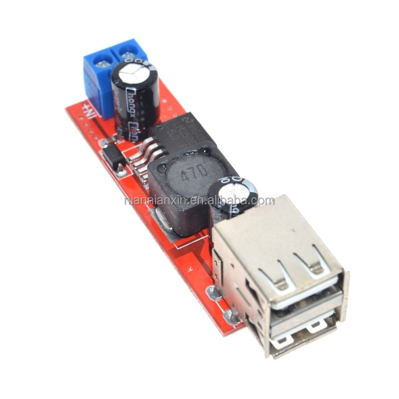 Dual USB Output DC-DC Step Down Buck Power Module 9V/12V/24V/36V to 5V USB 3A for Vehicle Charger LM2596