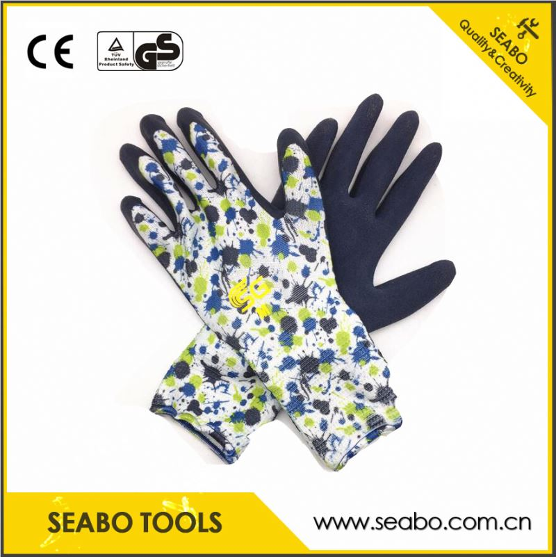 industrial-grade buffalo leather work gloves with stretchable handle