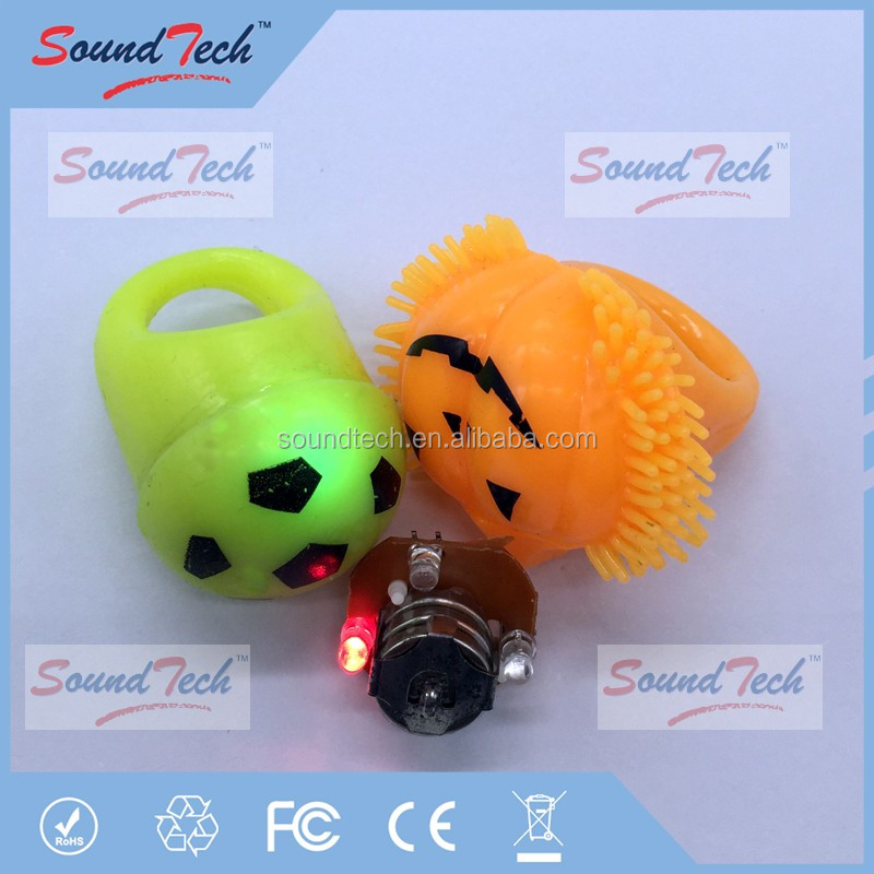 Event party supplies custom made halloween occasion flashing led ring light