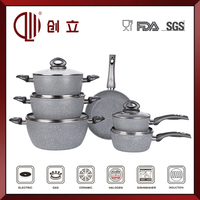 marble coated italian cookware set