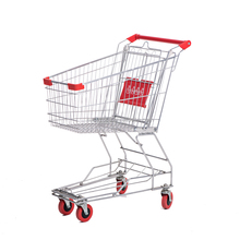 150L Asia steel wholesale shopping mall trolley for walmart