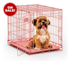 "pink 24""L x 18""W x 19""H dog cage"