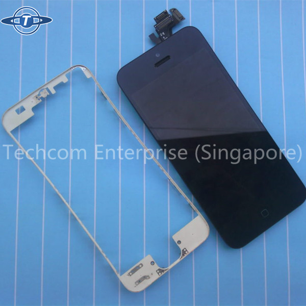 white / black LCD & touch screen frame front bezel supporting bracket for iPhone 5 5S