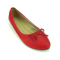 high quality women soft hot sale beautiful red simple casual dress pumps shoes