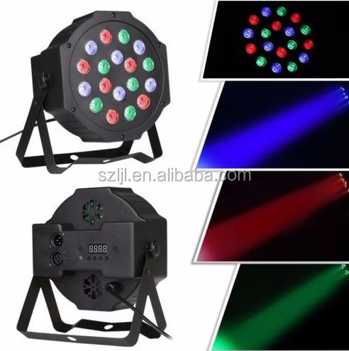 RGB PAR Light 18 LEDs DMX512 Color Mixing Wash Can Stage Light Disco DJ Wedding Party Show Live Concert Lighting