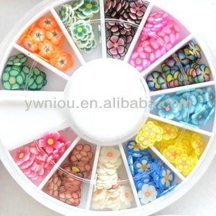 Animal&Fruit&Flower Shape Nail Art Slices