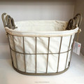 high quality home goods wire basket with handle for storage wholesale