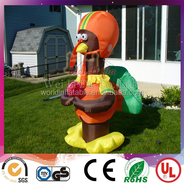 Custom-grade advertising outdoor inflatable turkeymodel decoration for sales