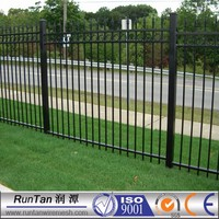 manufacturer hot sale cheap prefab iron fence panels (ISO9001)