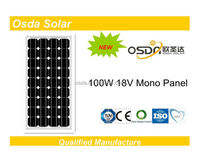 solar 100w mono pv panel for on grid off grid system