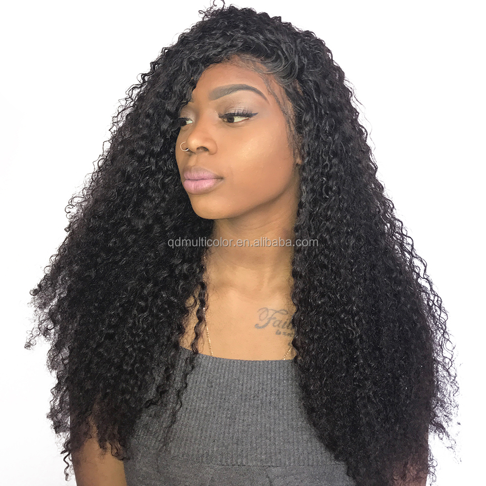 DLME <strong>u</strong> part wig kinky curly white women lace wigs pre plucked natural hairline human hair