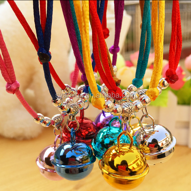 Wholesale pet collar hand-made small bell <strong>dog</strong> and cat necklace accessories.