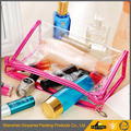 Fashion high quality mesh pvc cosmetic make up bags for set