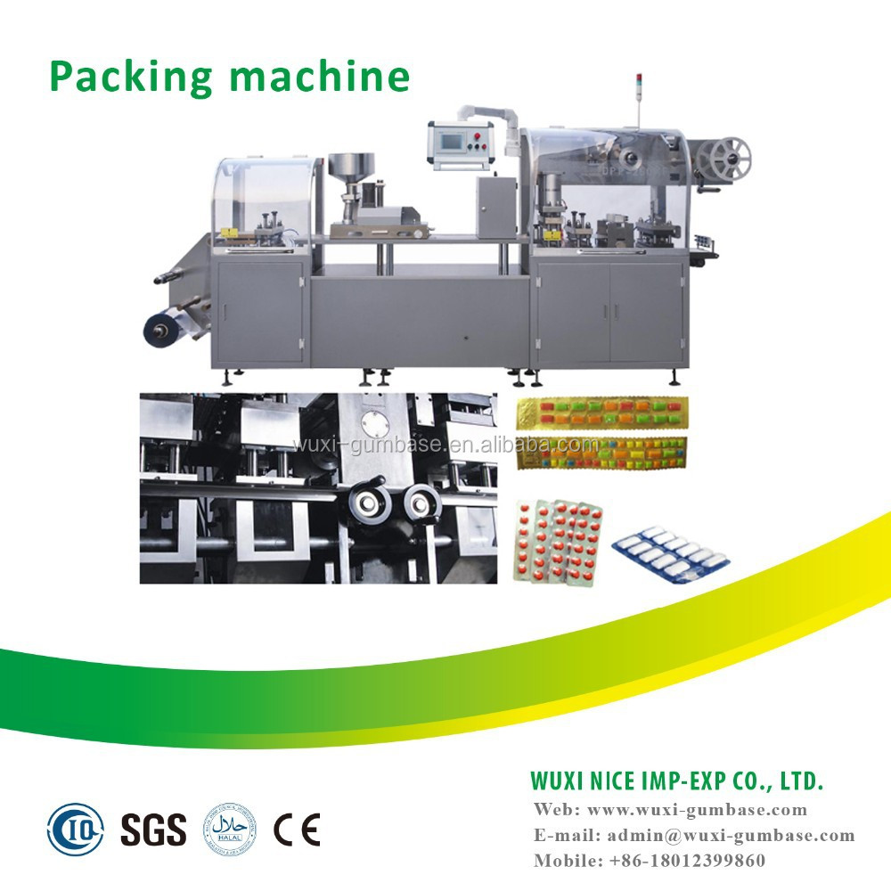 Professional automatic blister chewing gum packing machine for tablet