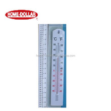 Large Hole Plastic Rectangle Wall House Thermometer