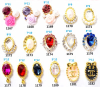 Hot sale luxury zinc alloy 3D nail charm new designs handmade shiny colorful 3D rhinestone best nail art
