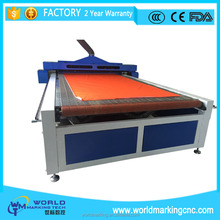 China manufacturing machine CNC Laser Cutting Machine flocked garment cloth