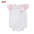 Fashionable High Quality Combed Cotton White Baby Romper